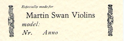Online violin Shop: Martin Swan Musical Instrument Design