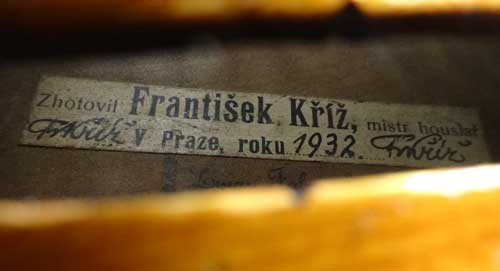 Violin by Frantisek Kriz, Prague 1932