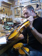 Setting up a new handmade violin
