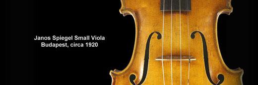 Janos Spiegel Small Viola, Budapest circa 1920