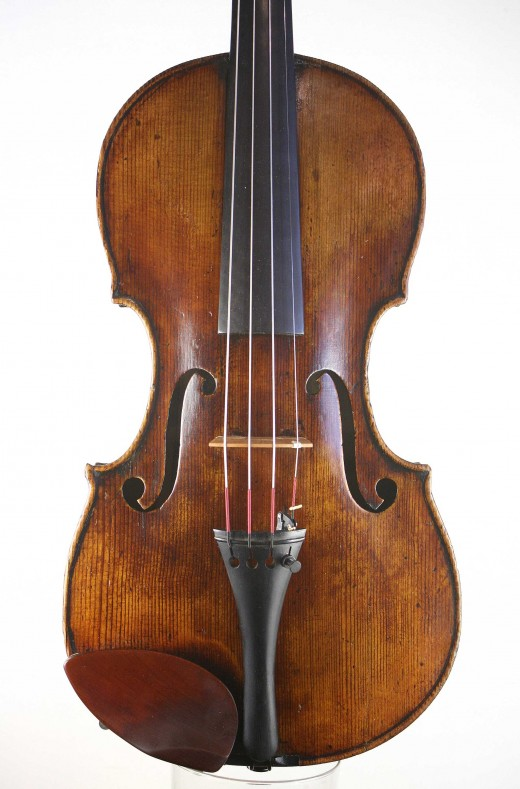Violin labelled EA Homolka
