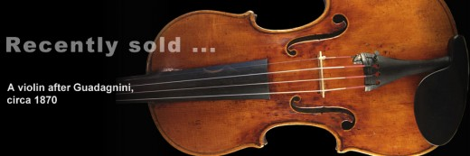 A violin after Guadagnini, c1870