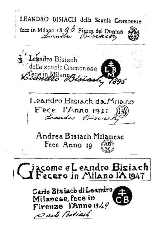 Violin labels