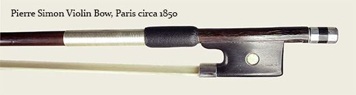 Pierre Simon Violin Bow, Paris circa 1850