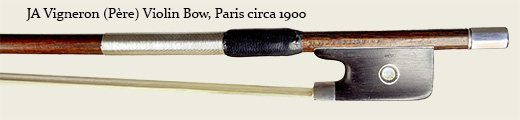 JA Vigneron (Père) Violin Bow, Paris circa 1900