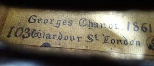 Georges Chanot Violin
