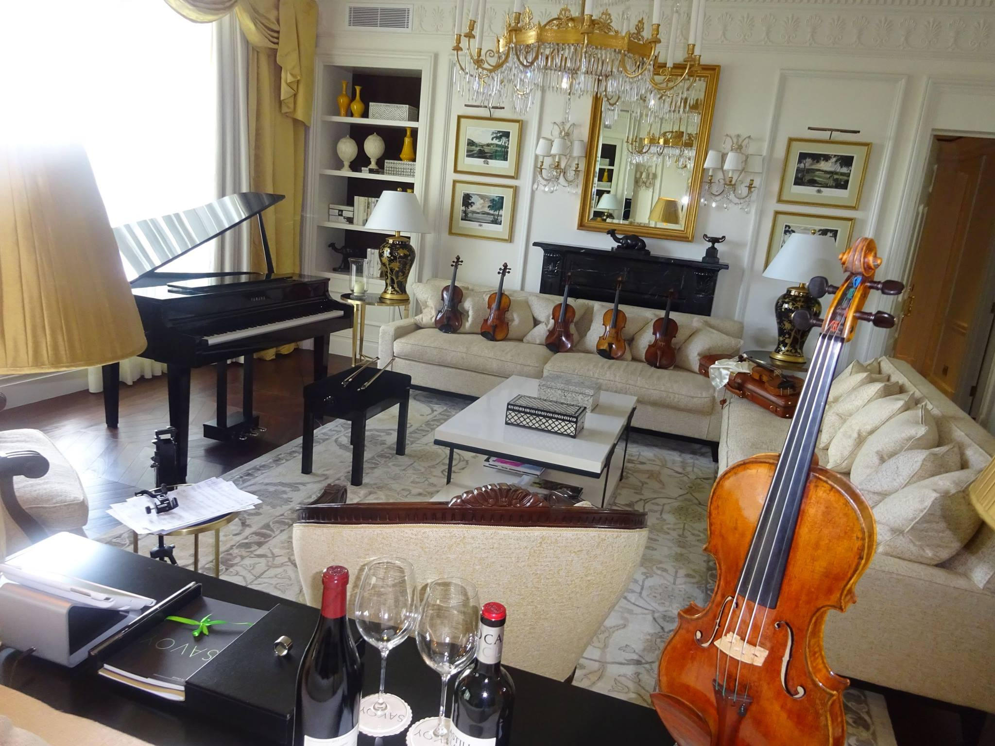 Martin Swan Violins at the Savoy Hotel, London