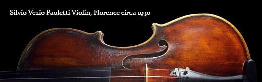 Silvio Vezio Paoletti Violin, Florence circa 1930