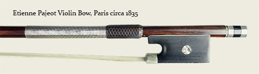 Etienne Pajeot Violin Bow, Paris circa 1835