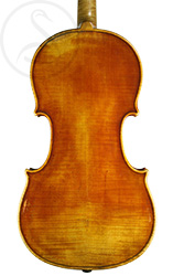 Joseph Calot Violin back photo