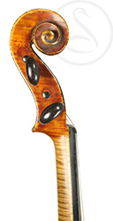 Joseph Calot Violin scroll photo
