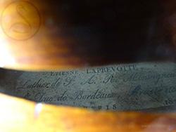 Etienne Laprevotte Violin label