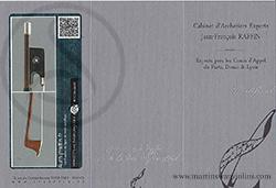 Louis Morizot Violin Bow Certificate