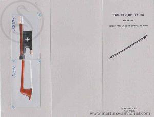 Célestin Emile Clasquin Violin Bow, Paris circa 1930