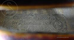 Charles Maucotel Violin label