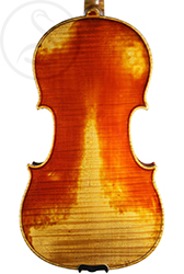 Charles Gaillard Violin back photo