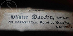Hilaire Darche Violin label