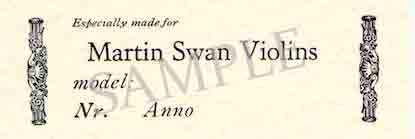Online violin Shop: Martin Swan Musical Instrument Design