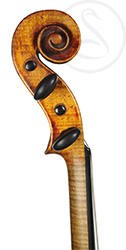 Mirecourt Violin scroll photo
