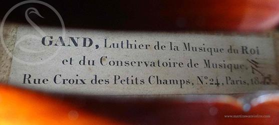 Charles François Gand (Père) Violin label