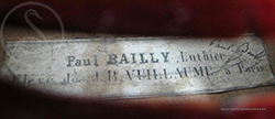 Paul Bailly Violin label