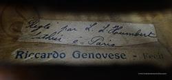 Riccardo Genovese Violin label