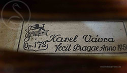 Karel Vávra Violin label