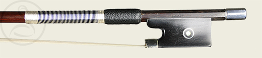 A Good German Violin Bow branded J. Knopf