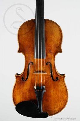 A Good Mittenwald Violin, circa 1820