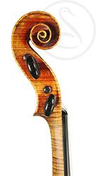 Pierre Silvestre Violin scroll photo