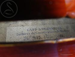 Gand & Bernardel Viola label