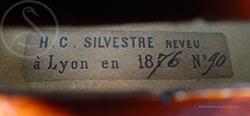 Hippolyte Chrétien Silvestre Violin label