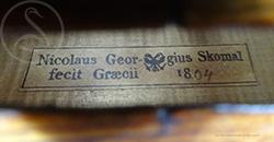 Nicolaus Georg Skomal Violin label