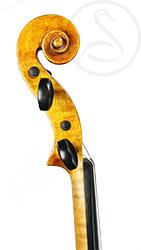 Friedrich Lohmann Violin scroll photo