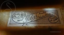 Karel Pilar Violin label