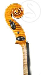 Karel Pilar Violin scroll photo