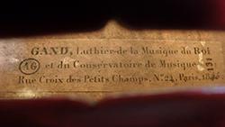 Charles Adolphe Gand Violin label