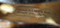 Johann Scheverle Viola label