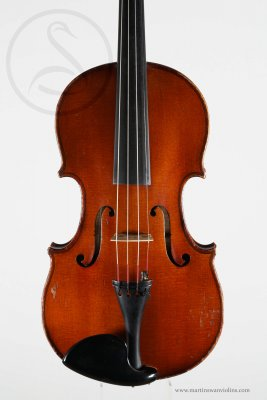 A Mirecourt 7/8 Violin, Poirsons Label, 1914