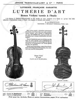 Jerome Thibouville-Lamy Violin listing
