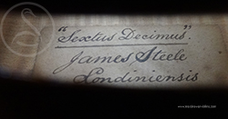 James Steele Violin label photo