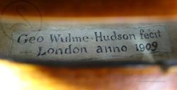 George Wulme Hudson Violin label photo