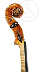 George Wulme Hudson Violin scroll photo