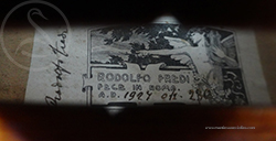 Rodolfo Fredi Violin label