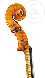 Rodolfo Fredi Violin scroll photo