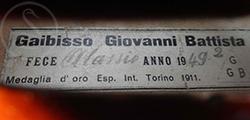 GB Gaibisso Violin label