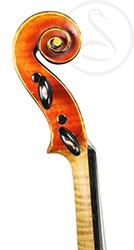 Gand & Bernardel Violin scroll photo