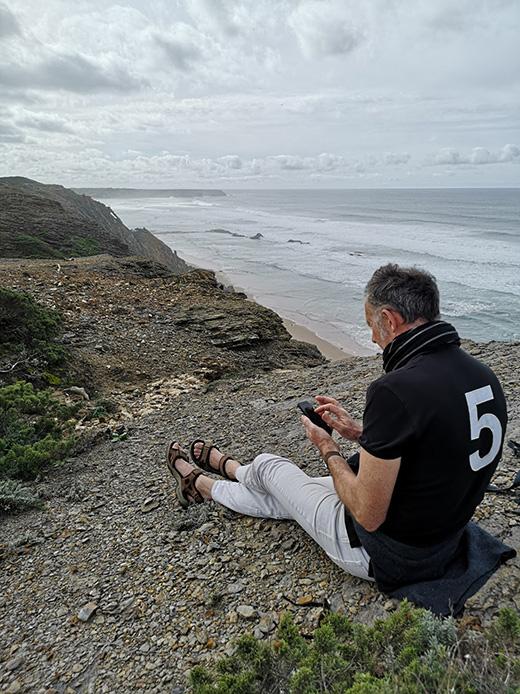 Martin Swan working in Portugal