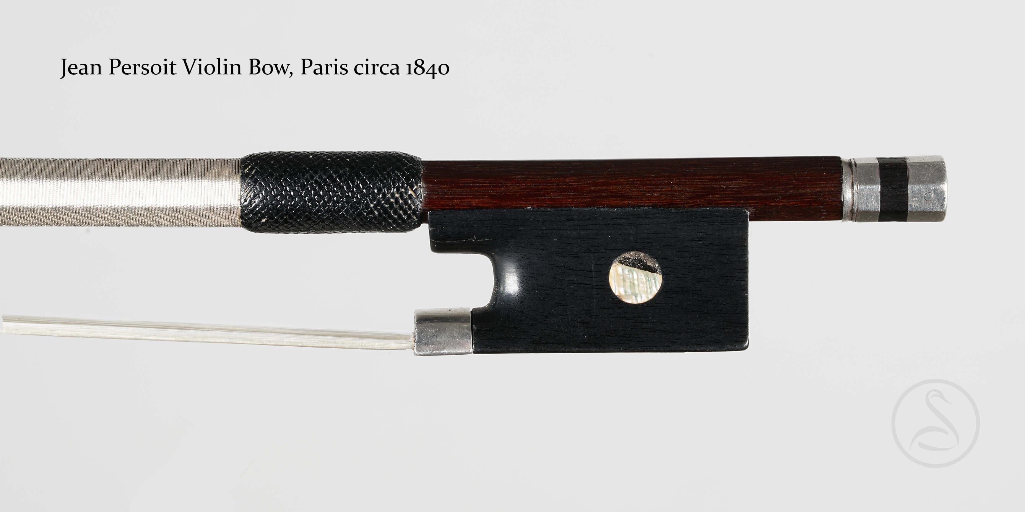 Jean Persoit Violin Bow, Paris circa 1840