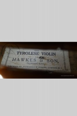 "Hawkes & Sons ""Tyrolese Violin"", Markneukirchen 1932"
